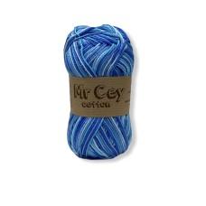 Mr. Cey Cotton Multi 803 Aquamarine